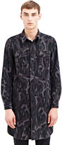 Archive - Number(n)ine Number (n)ine Men's Long Printed Felt Shirt From 'give Peace A Chance' Aw04 In Grey