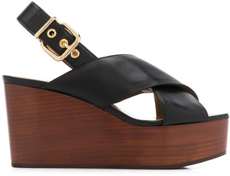 Marni Crossover Strap Detail Sandals