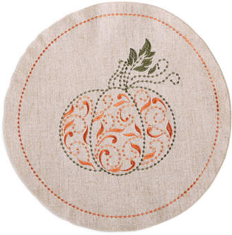"""Lenox Closeout! French Perle Pumpkin 15""""round Placemat"""