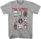 BIO Star Wars Force Awakens All I Learned T-Shirt