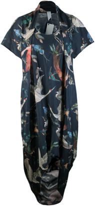 Format SAGE birds plain dress - Pink/Blue/Teal