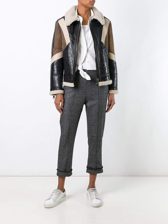 Neil Barrett panelled leather jacket
