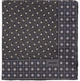 Prada Men's Diamond-Dot-Print Silk Twill Pocket Square