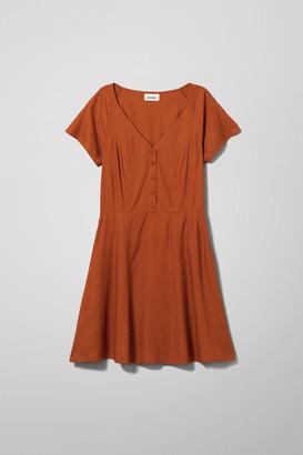 Weekday Kiki Dress - Orange