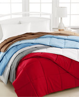 Home Design Down Alternative Color King Comforter in Red