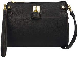 Liz Claiborne Elly Lock Convertible Crossbody Bag