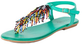 Inuovo Turquoise Leather Sandals
