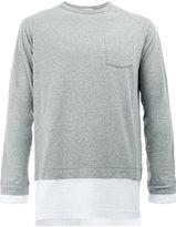 Wooster + Lardini - layer effect long sleeve top - men - Cotton - M