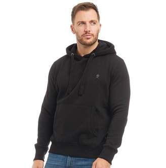 French Connection Mens FC Over The Head Hoodie Black