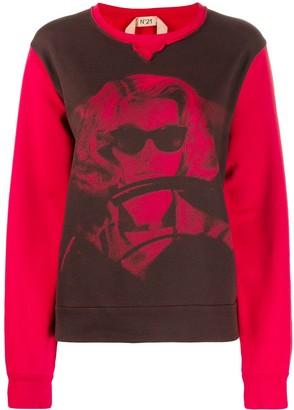 No.21 Woman Print Sweatshirt