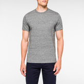 Paul Smith Men's Slim-Fit Grey Marl Embossed PS Logo Supima-Cotton T-Shirt