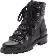 Christian Louboutin Mad Leather Lace-Up Ankle Boot, Black