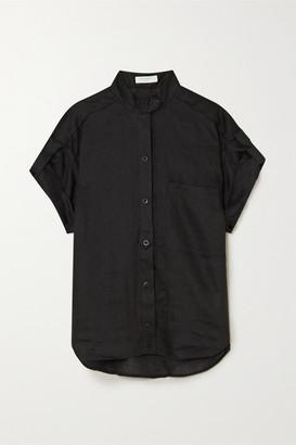 Equipment Drace Linen Shirt - Black