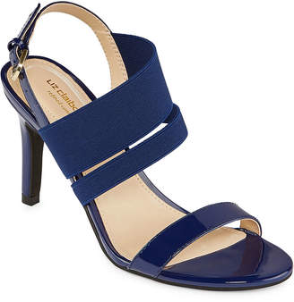 Liz Claiborne Womens Main Elastic Open Toe Block Heel Pumps