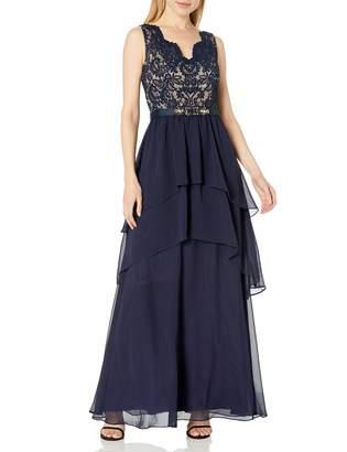 Eliza J Women's V-Neck Sleeveless Gown