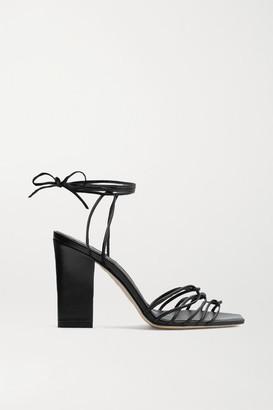 AEYDĒ Daisy Leather Sandals - Black