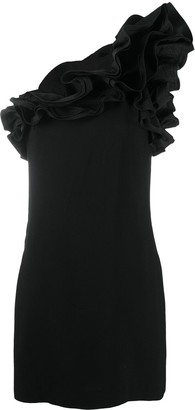Amen Ruffle One-Shoulder Mini Dress
