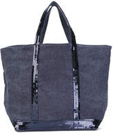 Vanessa Bruno canvas sequin-trimmed tote