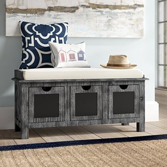 Gracie Oaks Winsted 3 Drawer Upholstered Storage Bench
