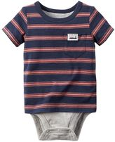 Carter's Baby Boy Striped Mock-Layer Bodysuit