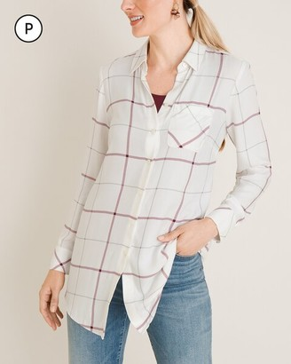 Chico's Petite Everyday Plaid Button-Front Shirt