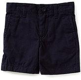 Class Club Little Boys 2T-7 Flat Front Twill Shorts