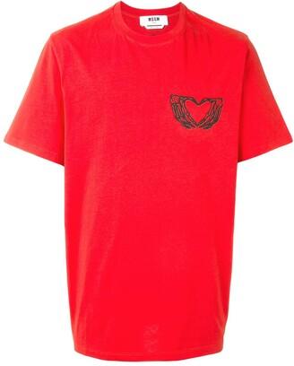 MSGM heart-print T-shirt