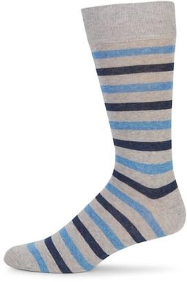 Saks Fifth Avenue Double Striped Crew Socks