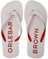 Orlebar Brown Men's Efren Flip Flops White/Rescue Red