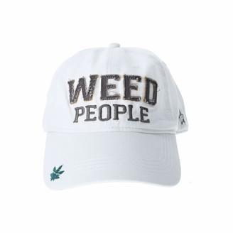 Pavilion Gift Company Weed People-White Adjustable Snapback Baseball Hat
