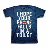 NOVELTY PROMOTIONAL Toilet Phone Short Sleeve Graphic T-Shirt