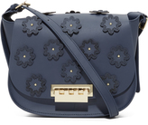 Zac Posen Floral Applique Eartha Iconic Saddle Bag