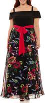 R & K Originals Sleeveless Floral Maxi Dress - Plus