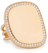 Roberto Coin Golden Jade 18K Rose Gold & Pavé Diamond Ring
