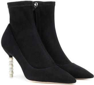Sophia Webster Coco embellished suede ankle boots