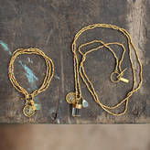 Nkuku Gold Charm Necklace And Bracelet