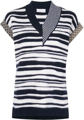 Pierre Louis Mascia Zebra Pattern Knitted Top