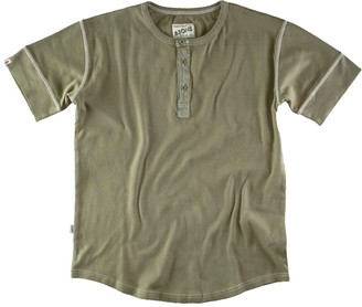 &Sons Trading Co The New Elder Henley Short Sleeve Shirt Army Green