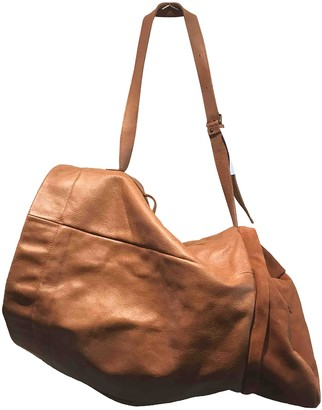 Humanoid Brown Leather Travel bags