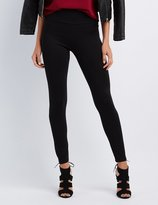 Charlotte Russe High-Rise Ponte Knit Leggings