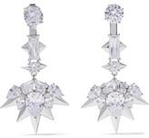 Noir Blizzard silver-tone crystal earrings
