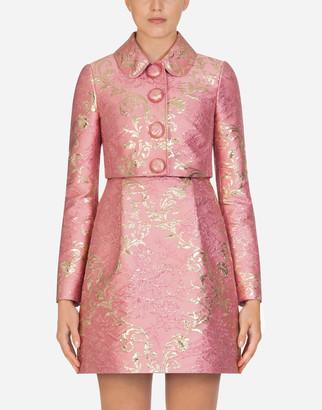 Dolce & Gabbana Cropped Lame Jacquard Jacket