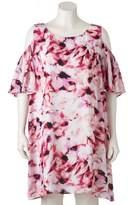 Apt. 9 Plus Size Cold-Shoulder Shift Dress