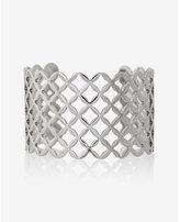 Express lattice pattern cut-out cuff bracelet