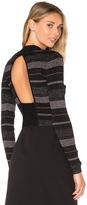 KENDALL + KYLIE Lurex Stripe Long Sleeve Sweater
