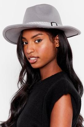 Nasty Gal Womens I Spy Faux Wool Fedora Hat - Grey