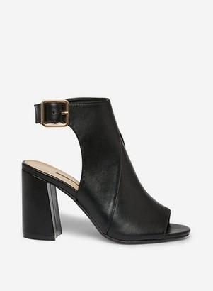 Dorothy Perkins Womens Black 'Asha' Peep Toe Boots, Black
