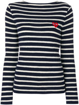 Comme des Garcons striped sweatshirt - women - Wool - XS