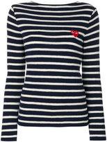 Comme des Garcons striped sweatshirt