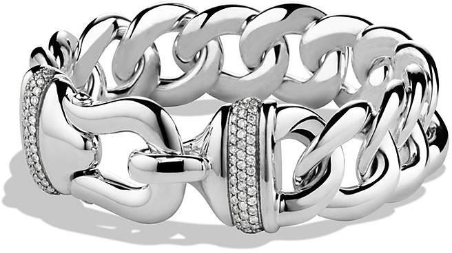 David Yurman Buckle Single-Row Bracelet with Diamonds